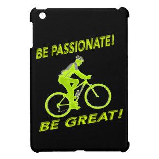 Soyez passionné ! Soyez grand ! Vert de cycliste Coques iPad Mini