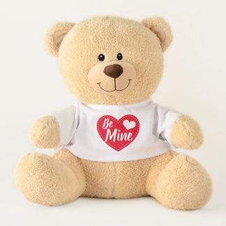 Soyez peluche d'ours de nounours de Saint-Valentin