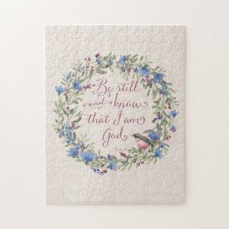 Soyez toujours et sachez - le 46:10 de psaume puzzle