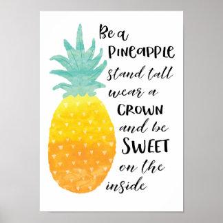 Soyez un ananas poster