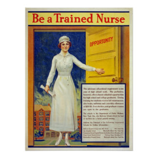 Soyez une infirmière qualifiée, cru reconstitué poster