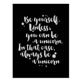 Soyez une licorne - carte inspirée