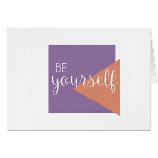 Soyez vous-même carte de voeux vierge inspirée