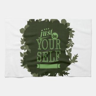 Soyez vous-même de motivation serviette éponge