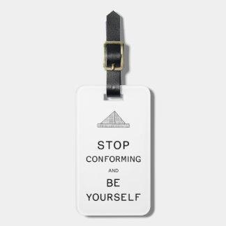 Soyez vous-même étiquette à bagage