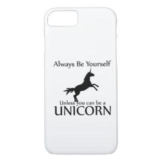 Soyez vous-même licorne coque iPhone 7
