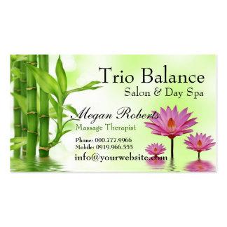 Spa en bambou de salon de massage de Lotus de l'ea Carte De Visite Standard
