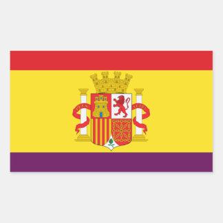 Spaanse Republikeinse Vlag - Bandera República Rechthoekige Sticker