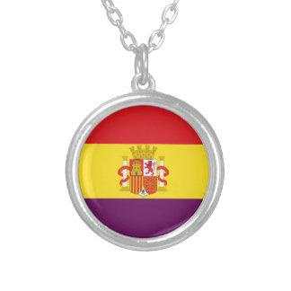 Spaanse Republikeinse Vlag - Bandera República Zilver Vergulden Ketting