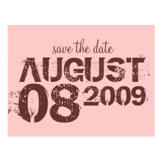 sparen de datum - pas aan briefkaart