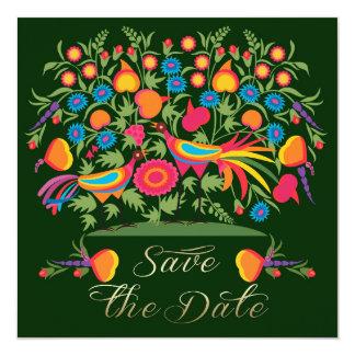 Sparen de Datum voor een Kaart van de Partij van 13,3x13,3 Vierkante Uitnodiging Kaart