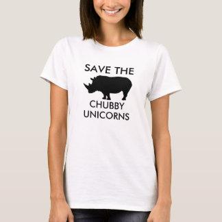 Sparen de mollige eenhoorns t shirt