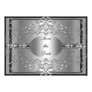 Sparen de Zilveren Elegante Uitnodiging van de