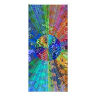 Spectre bleu cosmique de V2 Blueray Double Carte Personnalisée