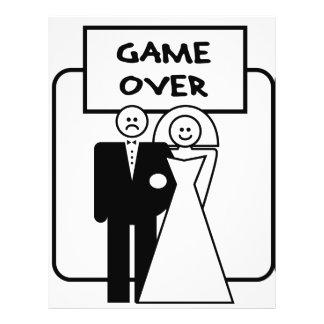 """""""Spel over"""" huwelijk Flyer 21,6 X 27,9 Cm"""