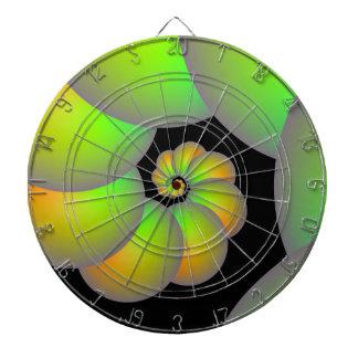 Sphères en spirale dans la cible verte et jaune
