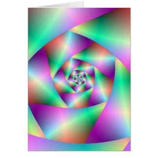 Spirale de carte de voeux dans la turquoise et le