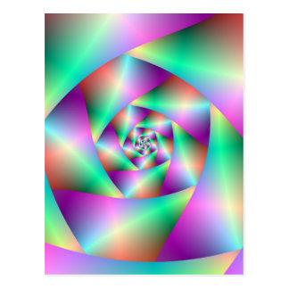 Spirale de carte postale dans la turquoise et le