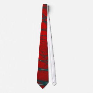 Spirale de fil sur la cravate rouge