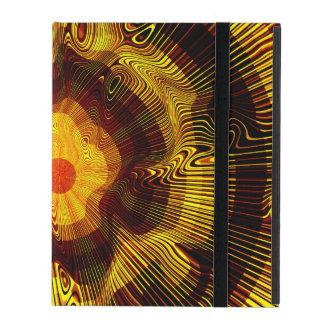 Spirale d'or jaune psychédélique coque iPad