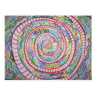 Spirale magenta carte postale