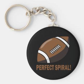 Spirale parfaite porte-clé rond