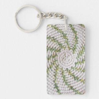 Spirale verte de porte - clé (acrylique) - sur le porte-clé  rectangulaire en acrylique une face