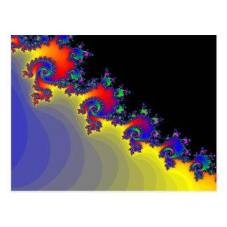 Spirales colorées de fractale : carte postale