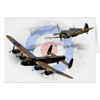 Spitfire et Lancaster Carte