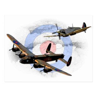 Spitfire et Lancaster Carte Postale