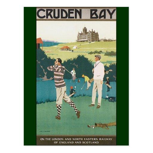 Sport jouant au golf de golfeurs de voyage de golf cartes postales