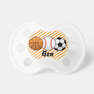 Sports basket-ball, base-ball, tétine de bébé du
