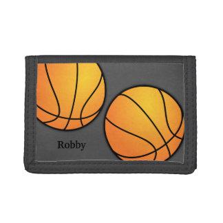 Sports - portefeuille fait sur commande de basket-