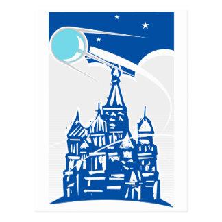 Spoutnik au-dessus de Kremlin Carte Postale