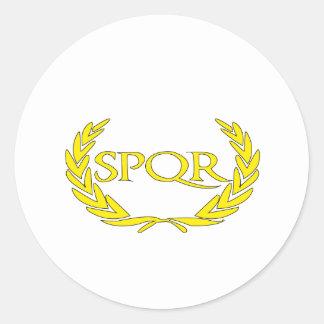 SPQR Roma Sticker Rond