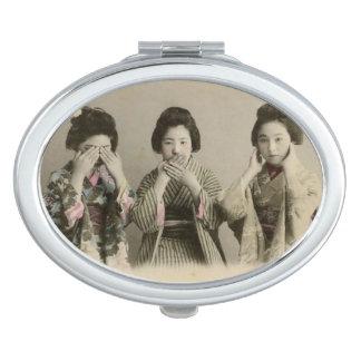 Spreek Geen Kwade Compacte Spiegel Makeup Spiegeltjes