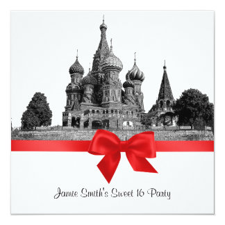 SQ BW Rode Sweet16 van het Basilicum van Moskou St Kaart