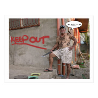 Squatter philippin - carte postale