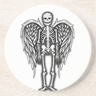 Squelette d'ange dessous de verre en grès