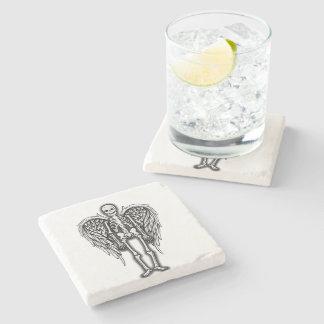 Squelette d'ange dessous-de-verre en pierre
