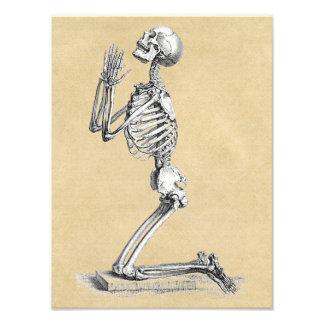 Squelette dans la prière photographies d'art