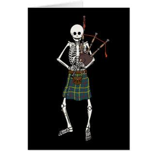 Squelette de joueur de cornemuse carte