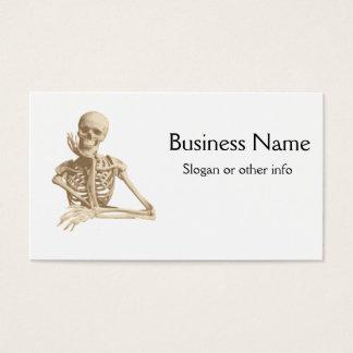 Squelette drôle cartes de visite