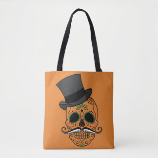 Squelette peint dans le sac fourre-tout à