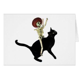 Squelette sur la carte de chat