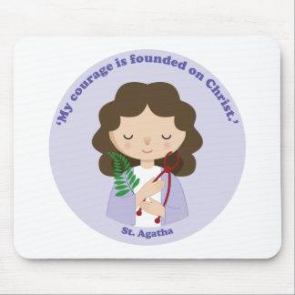 St Agatha Tapis De Souris