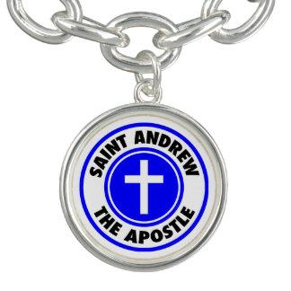 St Andrew l'apôtre Bracelet Avec Breloques