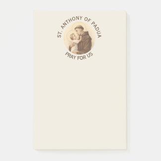 St Anthony de bébé Jésus de Padoue Post-it®