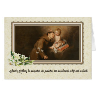 St Anthony de la carte de voeux de Padoue w/prayer