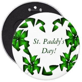St Coeur d'Irlandais du jour du paddy Badge Avec Épingle